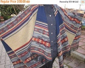 clearance sale Oversized PONCHO shawl wool blend flannel blanket scarf/Tribal/ethnic/Aztec/Turkish kilim/mexican scarf,women man winter fash