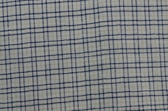 Plaid Fabric, Navy And White, Navy And Cream, Wide Fabric, Wide Plaid  Material, Cotton Blend   1 3/8 Yard   CFL1979 From TheFabricScore On Etsy  Studio