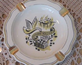 Vintage Edouard Rouzier Rotisserie Perigourdine Restaurant Ware Ashtray