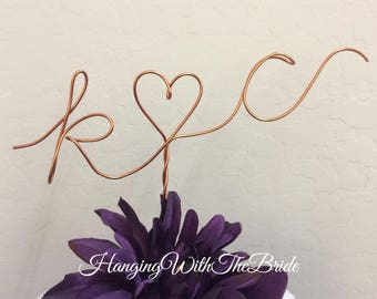 Custom Cake Topper - Wedding Cake Topper, Mr & Mrs,Wire Cake Topper, Personalized Cake Topper, Unique Wedding Gift