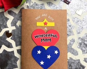 Birthday Card for Mom - Wonder Woman Theme