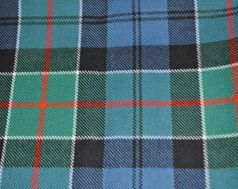 Colquhoun Tartan Fabric. 100% 10oz Pure New Wool. Large Remnant Piece. Ancient available.