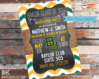 Baylor Graduation Invitation. Baylor Grad. Baylor Gradation Party. Graduation Party. Graduation Invitation. Gradation invites. Invites