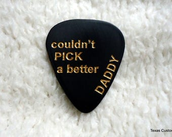 Father's Day Pick, Personalized Custom Engraved Guitar Pick/Plectrum, Personalized Pick, Engraved Pick, Custom Pick, Prom Dance