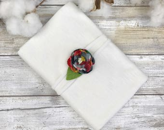 Wrap and matching tieback~Tieback headband~Wrap~White wrap~Layering set~Props~Photo props~Photography props~Baby girl props~Newborn props