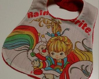 Rainbow Brite Baby Bib