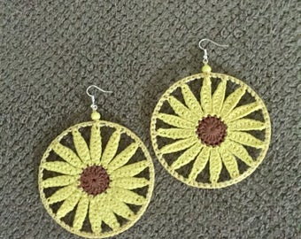 Sun Shine Crochet Earrings