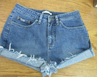 "LEE CUTOFF Jean SHORTS Cut Off W 29 Measured Hot Pants 29"" waist"