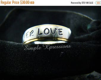 25% OFF Engraved Ring with Names - 6mm Two Tone Stainless Steel Ring