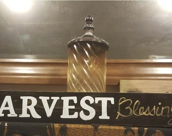 Harvest Blessings - Wood Sign / Shelf Sitter