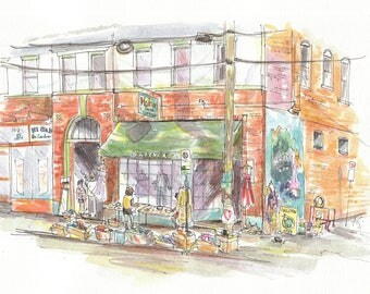 RVA:100 Ways - CHOICE of ONE print from continuing sketch series