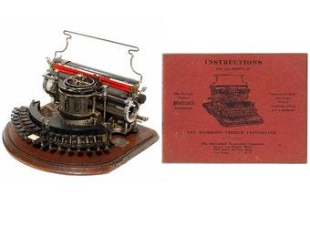 Hammond Multiplex 1st Model Typewriter Instruction Manual Ideal & Straight  Instant Download