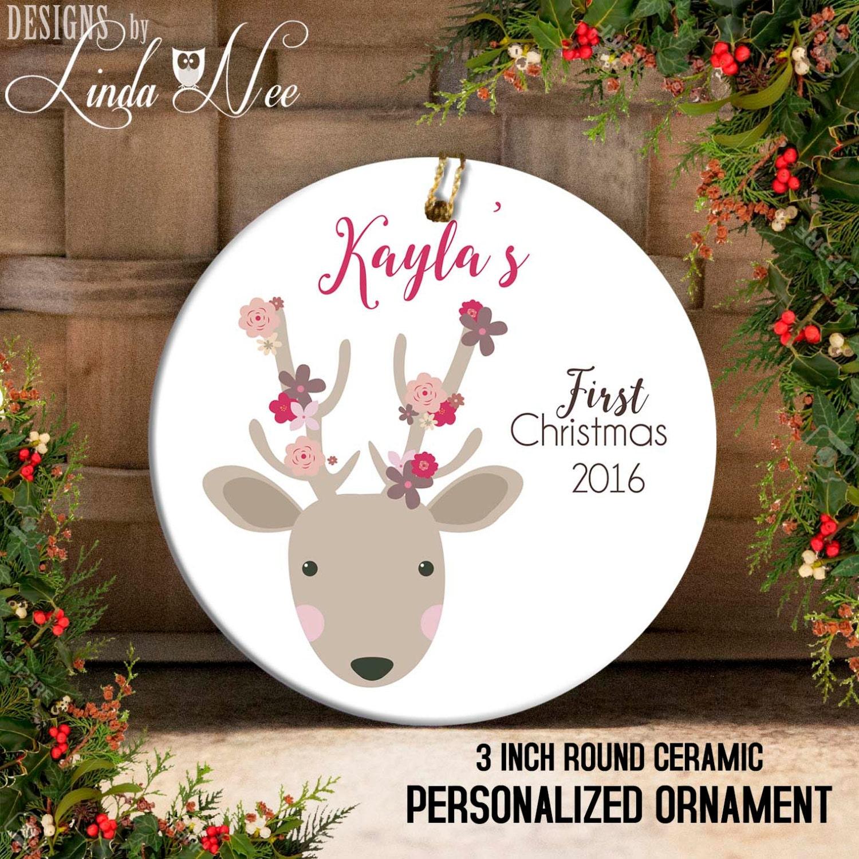 Baptism Ornament Christmas Ornament Personalized Baby: Baby's First Christmas Ornament Personalized Baby