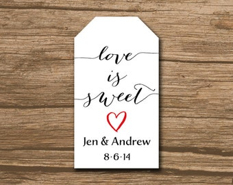Wedding Favor Tags, Shower Favor Tags, Hang Tags, Gift Tags, Thank You Tags - PRINTABLE file - 192