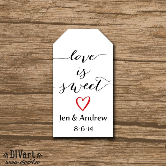 Wedding Favor Cards Tags : Wedding Favor Tags, Shower Favor Tags, Hang Tags, Gift Tags, Thank You ...
