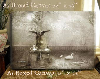 LARGE boxed Canvas - Between Heaven and Earth- A1 and A2 Fine By Charlotte Bird