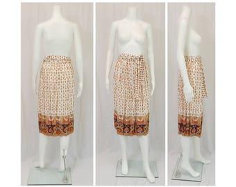 MALBE Beautiful Print Skirt Size Small