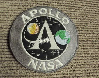 Vintage Nasa Apollo 1970's Embroidered Large Patch 7 3/4""