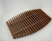 Mid Century Modern Teak Serving Trivet Tray, Wood Platter