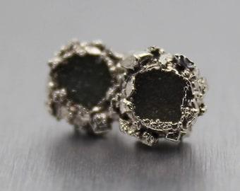 druzy earrings, silver earrings, purple druzy, gemstone earrings, druzy jewelry, silver druzy earrings, sterling silver earrings, dainty