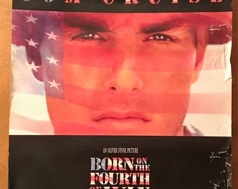 Mini Movie Poster, Born on the Fourth of July with Tom Cruise.