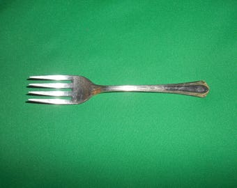 "One (1), 6"", Silver Plated, Salad Fork, from Valencia Silver Plate, in the Valencia Pattern."