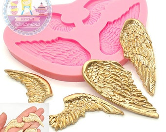 Angel Wings Set Mold Flexible Silicone Mould Cake Topping Cookie decorating Scrapbooking Mould Food Safe 497L BEST QUALITY