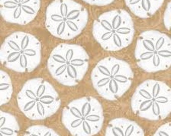 Sand Dollars - Seaside Dreams - Cotton Fabric - Studio E Fabrics - NAU-08