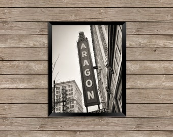 The Aragon Ballroom - Uptown Chicago Photography Print vintage sign photo