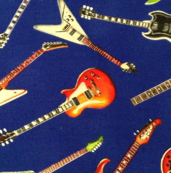Guitar Fabric Cotton Quilting Fabric Timelss Treasures