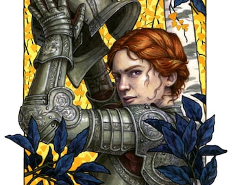 Alanna the Lioness Illustration 8x10