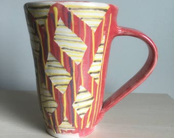 Handmade ceramic Mug with marbled interior Coffee/Tea