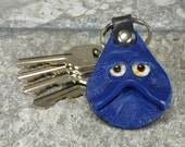 Hand Made Leather Key Ring Fob With Face Eye Key Purse Charm Harry Potter Labyrinth Monster