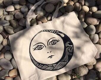 Bright Moon Large Eco Tote Bag