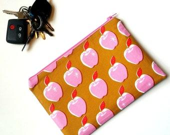 Pink and Mustard Apple purse teacher gift