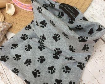 Dog Snood, Dog cowl, Paw Print, Dog Scarf, Dog Accessories, Dog clothes, Clothing for dogs, dog gifts,  dog hoodie, dog hoodies, dog fashion