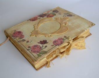 Vintage Roses Journal, Altered Book Journal