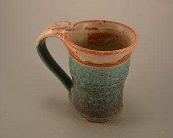 Weathered ,copper patina mug- ceramic mug- coffe mug