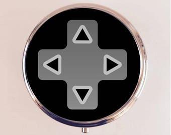 Video Game Button Pill Box Case Pillbox Holder Stash Trinket Box Pop Art Controller Gaming