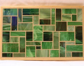 Green Glass Mosaic Trivet