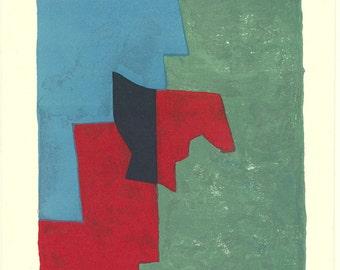 Serge Poliakoff-Untitled-1961 Lithograph