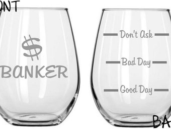 Banker Sand Carved Glass FREE Personalization