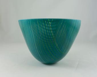 Green and blue plaid bowl