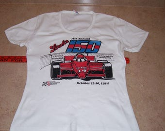 Vintage Auto Racing  T-Shirt, Phoenix, Stroh's Beer, Women's L