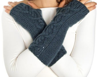 Georgeus Angel Arm warmers From Pure Merino Yarn Texting Gloves Fingerless Gloves Fingerless Arm warmers Woollen Gloves