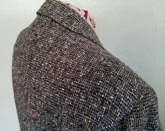 1950s tweed overcoat