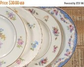 On Sale Mismatched Vintage Bread and Butter Plates Set of 4 Dessert Plates Bridesmaid Luncheon Tea Party