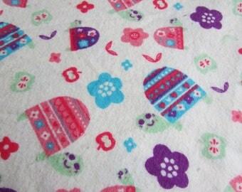Turtles, Extra-large receiving blanket, swaddling blanket, flannel blanket, baby girl, Red, Pink, and Orange Owls, reusable gift wrap