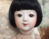 MOMOETTE Bleuette size Japanese Sakura Bisque Doll (4)