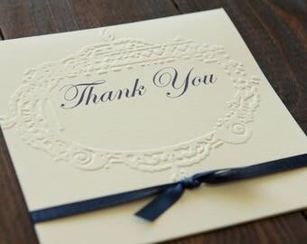 Thank you card Navy blue Thank You card Thank You note Wholesale Thank You  Wedding Thank You note Thank You set Wedding Thank You cards
